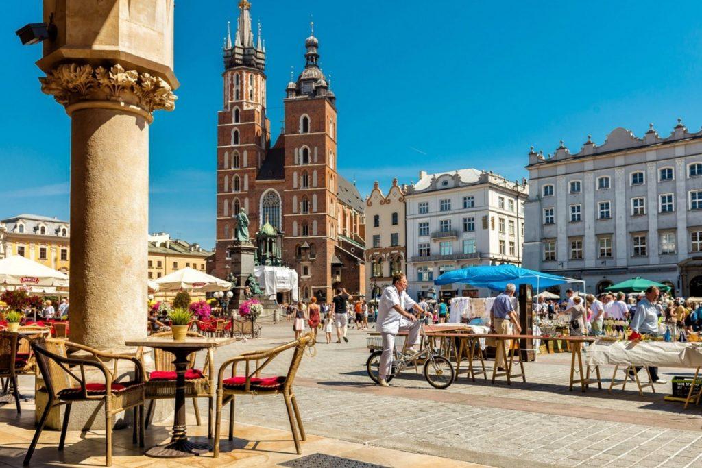school trips 2022 Main square Krakow Auschwitz history school trip JWT Schools travel tours